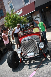 Car Show attendees check out this red classic in 2011.