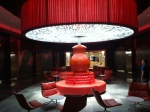 Oversize red lamp