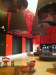Red and Brown Lounge at Revel Resorts