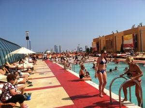 Pool scene at Golden Nugget Casino in Atlantic City