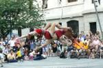 Philadelphia School of Circus Arts performers at Philadelphia City Hall.