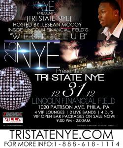 Lesean McCoy Flyer, Trstate, NYE, Ball Drop, Philadelphia, Philly, Lincoln Financial Field, Philly, Fun, Philadelphia, Party