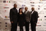 Photo Credit: NU IMAGES, Tramayne Simmons,  Nina Timani (Director of Sales and Marketing for Aloft, Sheraton Suites), Newdy Felton, Patrick Byrd