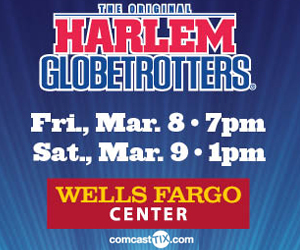 Harlem Globetrotters at Wells Fargo Center, Philadelphia, PA