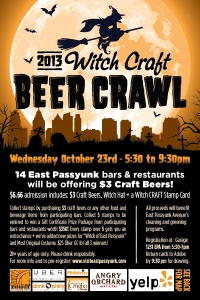 East Passyunk Witch Craft Beer Crawl
