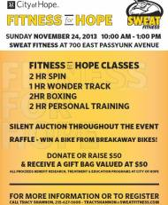 Burn Holiday Calories and Spread Good Will at Fitness for Hope at Sweat Fitness