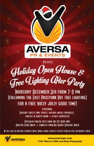 Tonight: You are invited! Aversa PR Holiday Open House + East Passyunk Tree Lighting AfterParty