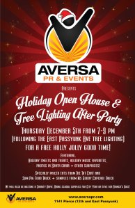 Aversa PR, Philly Loves Fun, Holiday Open House, East Passyunk Tree Lighting