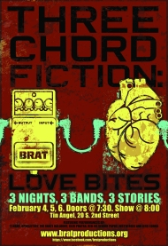 Win Tickets: Three Chord Fiction: Love Bites by Brat Productions at Tin Angel