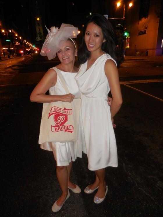 Broad Street Broad, Natanya DiBona, Kayli Moran, Diner en Blanc, Diner en Blanc Philadelphia, White, Fashion, Visit Philly, Pop-up Picnic, Philly Phaithful