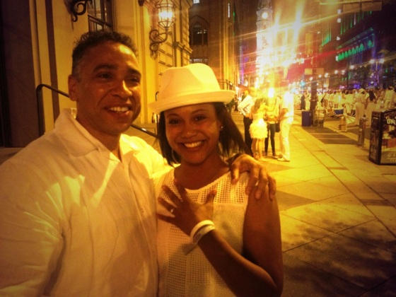 She said yes, wedding proposal, marriage, engagement, Diner en Blanc, Diner en Blanc Philadelphia, White, Fashion, Visit Philly, Pop-up Picnic