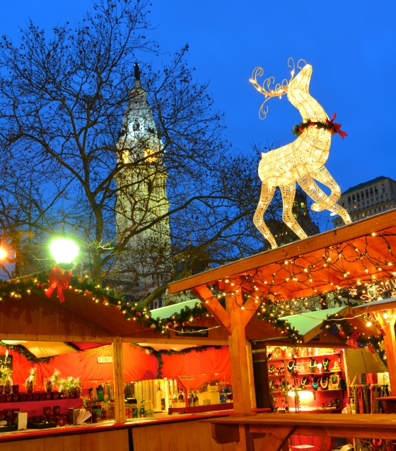 Christmas Village, Philadelphia, Holiday Tradition, LOVE Park