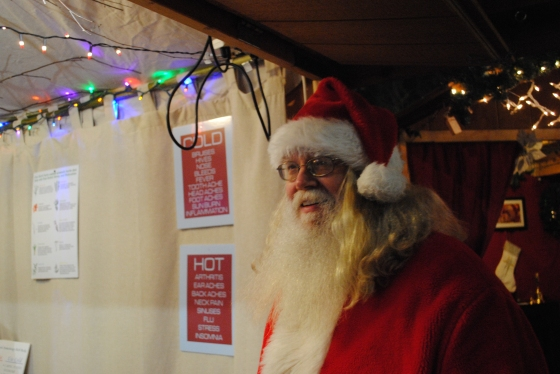 Santa officially arrived from the north pole by Lauren Mame Thomas Christmas Village in Philadelphia, Love Park, Christmas Village, Christmas Market, German Market, Tourism, Holiday, Hospitality, Philly, Pennsylvania, Aversa PR