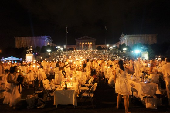 Diner en Blanc Philadelphia, Art Museum, Philadelphia Museum of Art